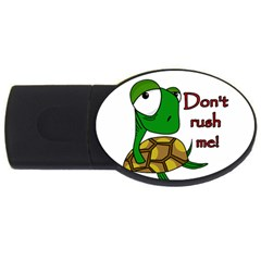 Turtle Joke Usb Flash Drive Oval (2 Gb)