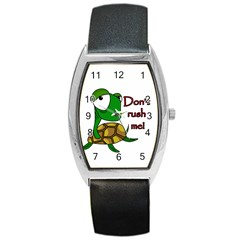 Turtle Joke Barrel Style Metal Watch