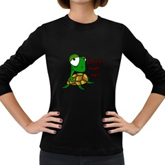 Turtle Joke Women s Long Sleeve Dark T Shirts