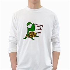 Turtle Joke White Long Sleeve T Shirts