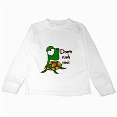 Turtle Joke Kids Long Sleeve T Shirts