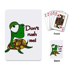 Turtle Joke Playing Card