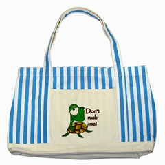 Turtle Joke Striped Blue Tote Bag