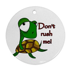 Turtle Joke Round Ornament (two Sides)