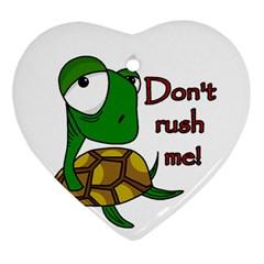 Turtle Joke Heart Ornament (2 Sides)
