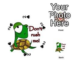 Turtle Joke Playing Cards 54 (round)