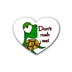 Turtle Joke Rubber Coaster (heart)