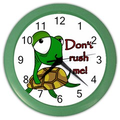 Turtle Joke Color Wall Clocks