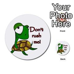 Turtle Joke Multi Purpose Cards (round)