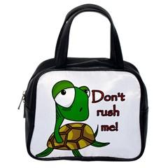 Turtle Joke Classic Handbags (one Side)