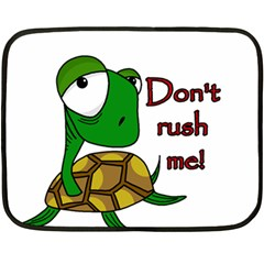 Turtle Joke Double Sided Fleece Blanket (mini)