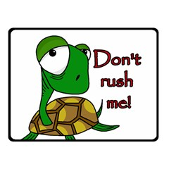 Turtle Joke Fleece Blanket (small)