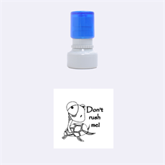 Turtle Joke Rubber Round Stamps (small)