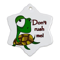 Turtle Joke Ornament (snowflake)