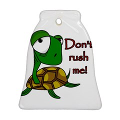 Turtle Joke Bell Ornament (2 Sides)