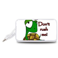 Turtle Joke Portable Speaker (white)
