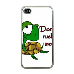 Turtle Joke Apple Iphone 4 Case (clear)
