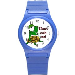 Turtle Joke Round Plastic Sport Watch (s)