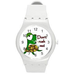 Turtle Joke Round Plastic Sport Watch (m)