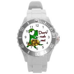 Turtle Joke Round Plastic Sport Watch (l)