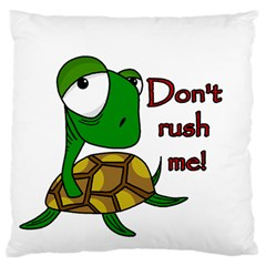 Turtle Joke Large Cushion Case (one Side)