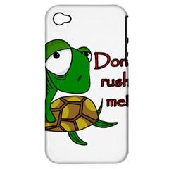 Turtle Joke Apple Iphone 4/4s Hardshell Case (pc+silicone)