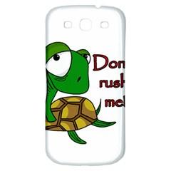 Turtle Joke Samsung Galaxy S3 S Iii Classic Hardshell Back Case