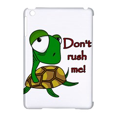 Turtle Joke Apple Ipad Mini Hardshell Case (compatible With Smart Cover)
