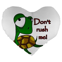 Turtle Joke Large 19  Premium Heart Shape Cushions