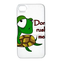 Turtle Joke Apple Iphone 4/4s Hardshell Case With Stand