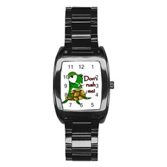 Turtle Joke Stainless Steel Barrel Watch