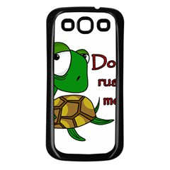 Turtle Joke Samsung Galaxy S3 Back Case (black)