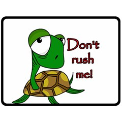 Turtle Joke Double Sided Fleece Blanket (large)