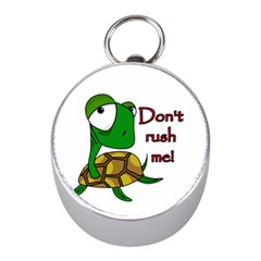 Turtle Joke Mini Silver Compasses