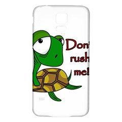 Turtle Joke Samsung Galaxy S5 Back Case (white)