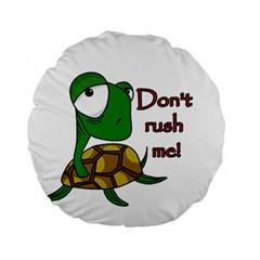 Turtle Joke Standard 15  Premium Flano Round Cushions