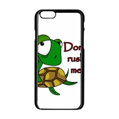 Turtle Joke Apple Iphone 6/6s Black Enamel Case