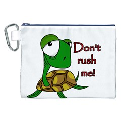 Turtle Joke Canvas Cosmetic Bag (xxl)