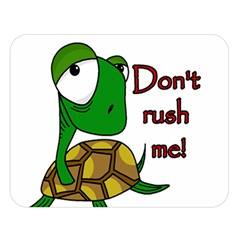 Turtle Joke Double Sided Flano Blanket (large)