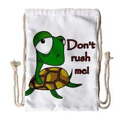 Turtle Joke Drawstring Bag (large)