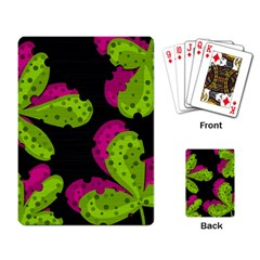 Decorative leafs  Playing Card