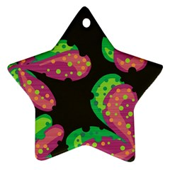 Colorful leafs Star Ornament (Two Sides)