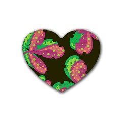 Colorful leafs Heart Coaster (4 pack)