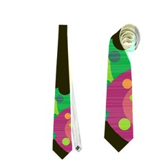Colorful leafs Neckties (Two Side)
