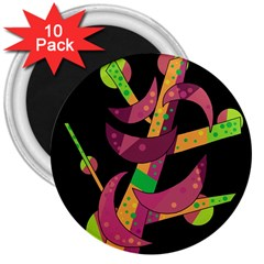 Moon tree 3  Magnets (10 pack)