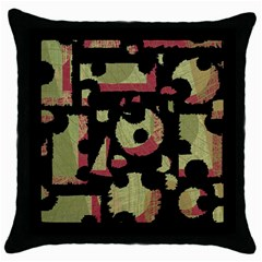 Papyrus  Throw Pillow Case (Black)