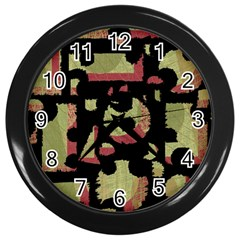 Papyrus  Wall Clocks (Black)