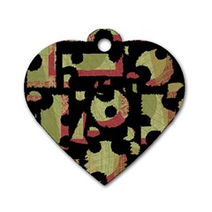 Papyrus  Dog Tag Heart (One Side)