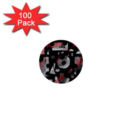 Red shadows 1  Mini Buttons (100 pack)