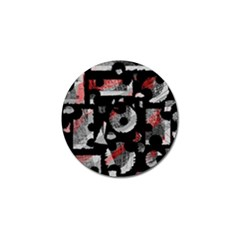Red shadows Golf Ball Marker (4 pack)